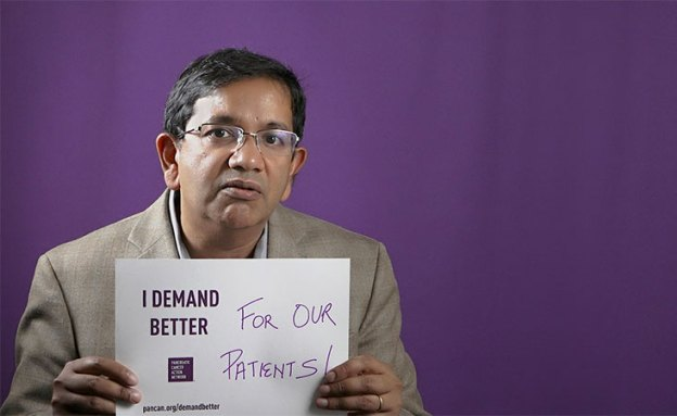 Anirban Maitra, MBBS, is a PanCAN research grantee at MD Anderson in Houston.