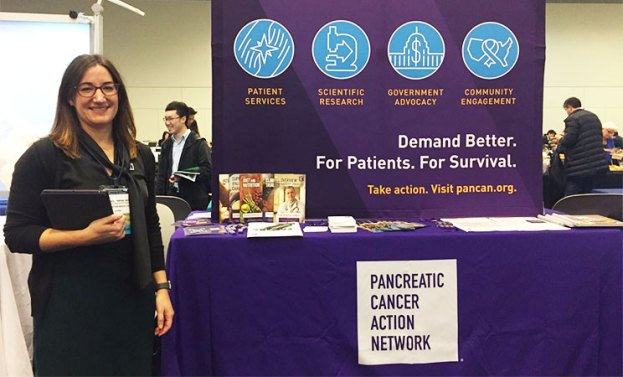 Exhibit booth at the 2019 Gastrointestinal Cancers Symposium highlights PanCAN's programs