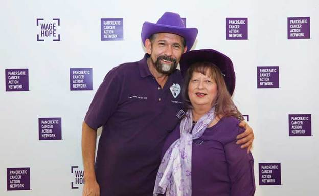 17-year pancreatic cancer survivor and her husband who volunteer for PanCANzs