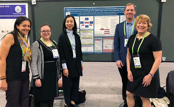 Pancreatic cancer researchers present a data poster at AACR international conference
