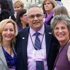 Pancreatic cancer survivor, PanCAN CEO and U.S. Ambassador advocate for research funding.