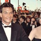 Actor Patrick Swayze and wife at the 1989 Academy Awards