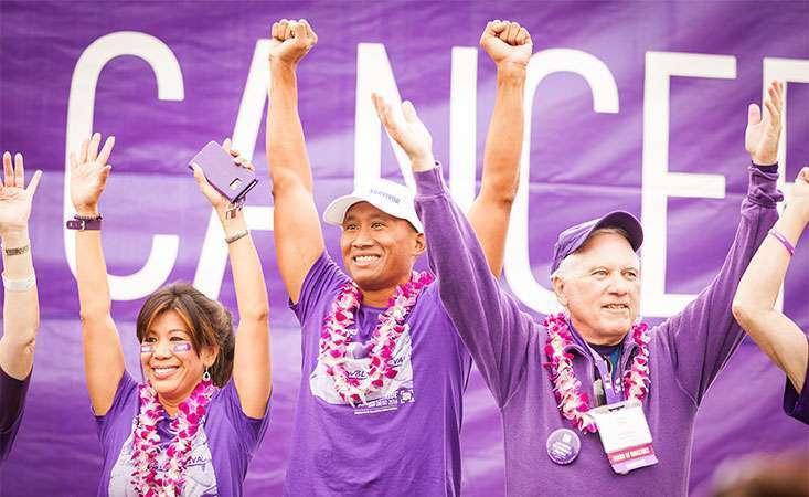 Pancreatic cancer survivors at PurpleStride
