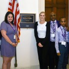Group of pancreatic cancer advocates at the office of a U.S. House Representative of Florida