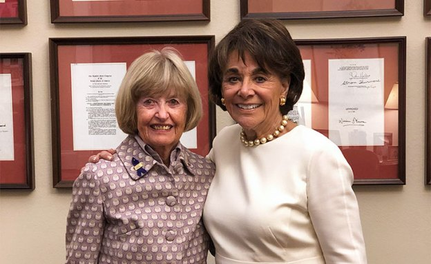 13-year pancreatic cancer survivor and U.S. Rep. Anna Eshoo at State of the Union address