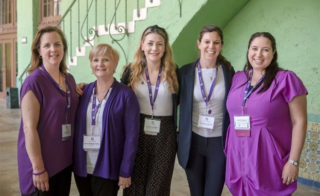 Female leaders of the World Pancreatic Cancer Coalition at annual conference