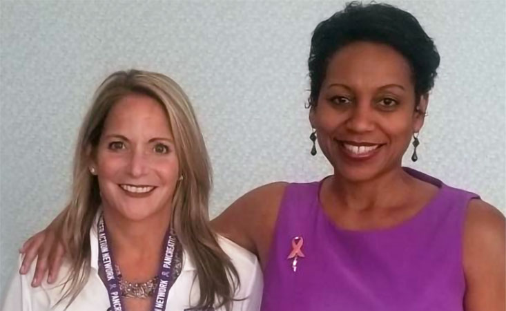 Pancreatic cancer survivors who lead PanCAN volunteers in Atlanta