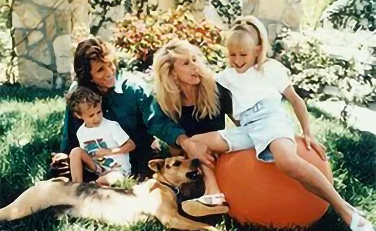 Michael Landon with his family