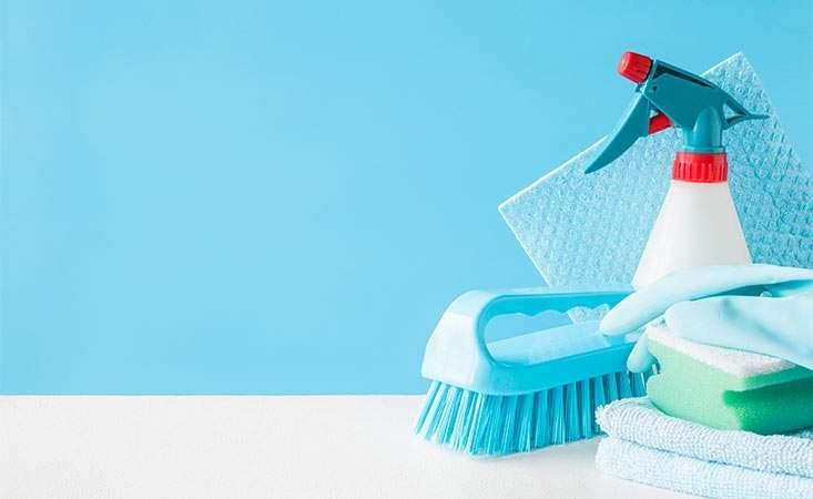 Cleaning supplies, helpful hints useful for coronavirus, general housekeeping