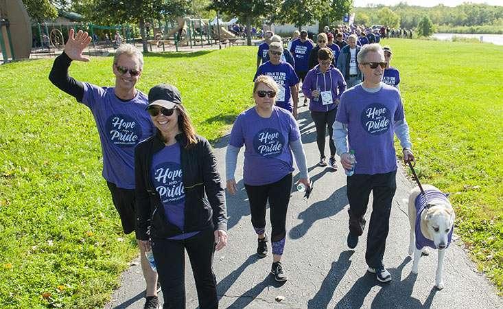 People walking at PurpleStride Iowa 2019