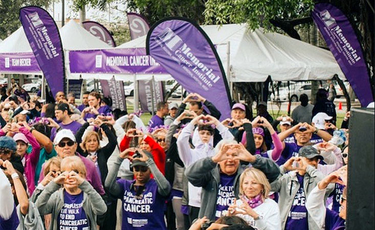 Memorial Cancer Institute is passionate about PanCAN's PurpleStride, the walk to end pancreatic cancer.