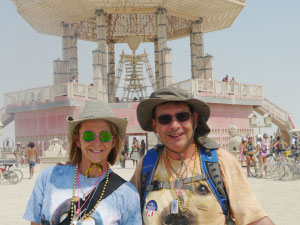 Anne-Marie and Claude are Burning Man devotees.