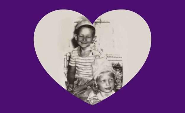 Lewis Jordan and future wife Joni as children