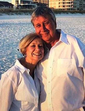 Lewis and Joni Jordan on the beach