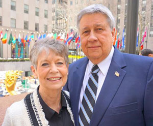 Lewis and Joni Jordan in New York City for her pancreatic cancer treatment