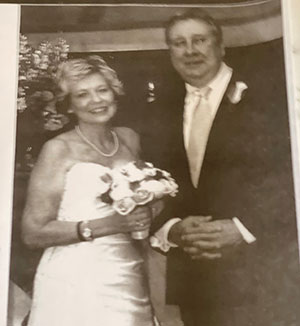 Lewis and Joni Jordan's wedding before her surgery for pancreatic cancer