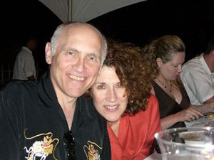 Star Trek actors Kitty Swink, a pancreatic cancer survivor, and Armin Shimerman