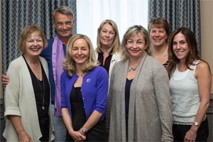 Barbara and others at a meeting of the World Pancreatic Cancer Coalition