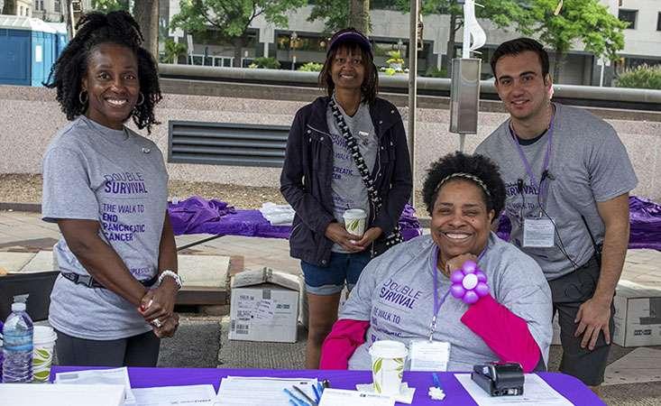 Gloria with fellow volunteers at PurpleStride Washington D.C. event