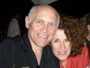 "Pancreatic cancer survivor Kitty Swink and husband Armin Shimerman of ""Star Trek"""