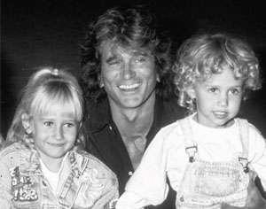 Michael Landon with children Jennifer and Sean