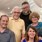 Pancreatic cancer survivor and doctor Elliott Schulman and family