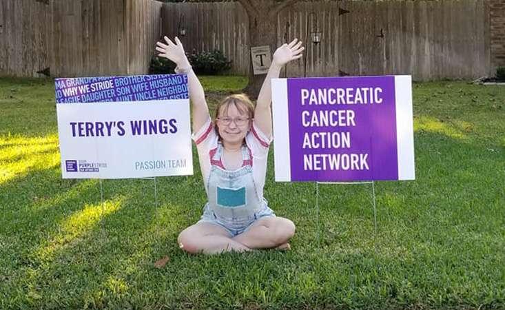 Jenna Trigilio raises funds for PanCAN PurpleStride walk