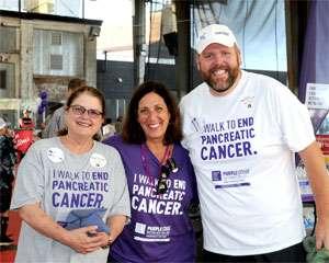 Pancreatic cancer survivor Matt Wilson and friends at PanCAN walk