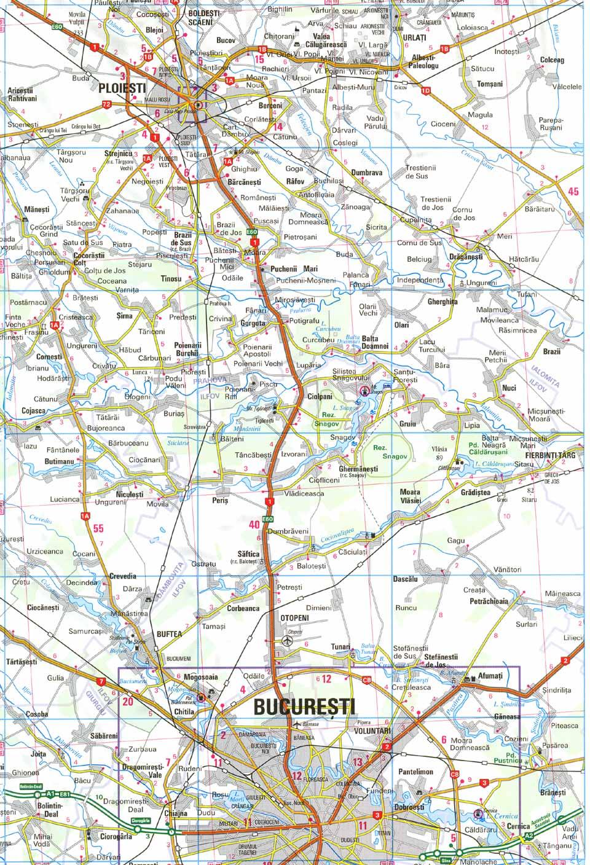 Harta rutiera Manastirea Ghighiu - Harta turistica Manastirea Ghighiu