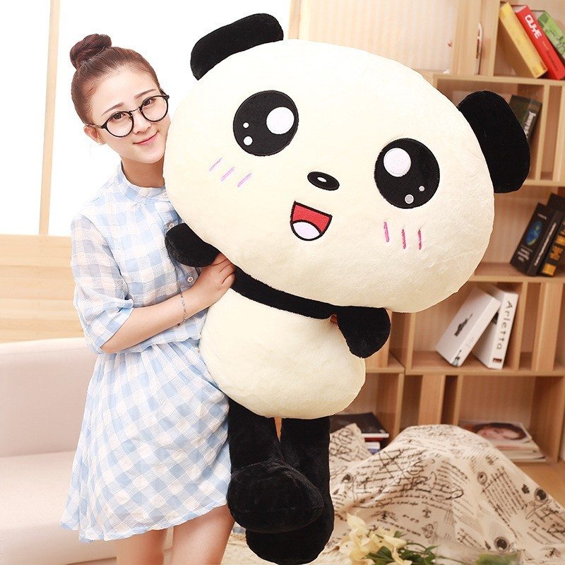 Giant Panda Stuffed Animal Cartoon Big Head Giant Panda Teddy Bear