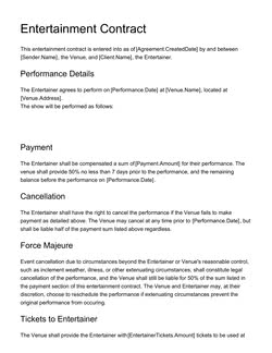 Document Contract Templates 200 Free Examples Edit In