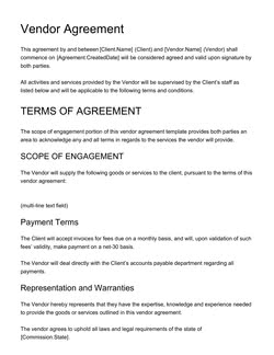 Recruitment Strategy Agreement Template Get Free Sample