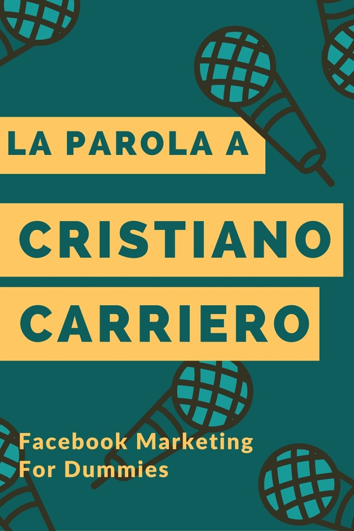 la parola a Cristiano Carriero