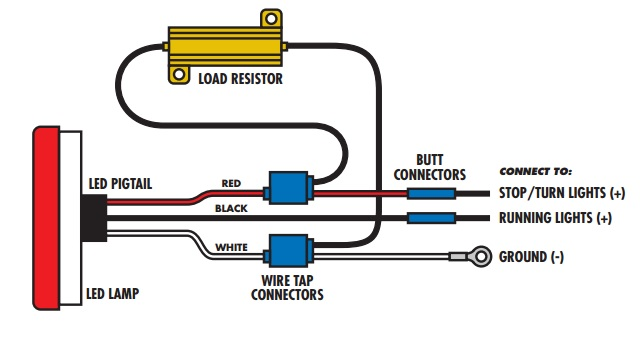 led stop turn tail light wiring diagram  2 7t engine