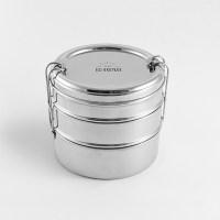 stapelbare lunchbox – rvs lunchtrommel - ecobrotbox - Lunchbox stapelbaar