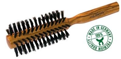 Houten haarborstel - ronde haarborstel – haar borstel - croll en denecke