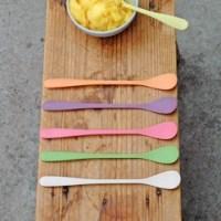 Sorbetlepels – dessertlepel – ijslepel – zuperzozial – bamboe servies