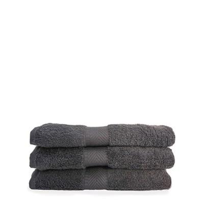 handdoekenset - biologische handdoeken – set handdoeken grijze handdoeken antraciet