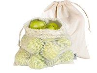 herbruikbaar groentenetje fruitnetje - herbruikbare zakjes groente – fruitzakjes