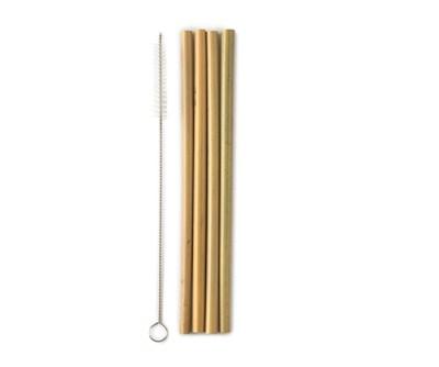 humble bamboe rietjes - herbruikbare rietjes bpa vrij - rietjes van bamboe – duurzame rietjes