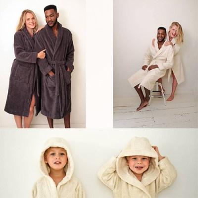 badstof badjas biologisch katoen – ochtendjas – badjas badstof – sauna badjas