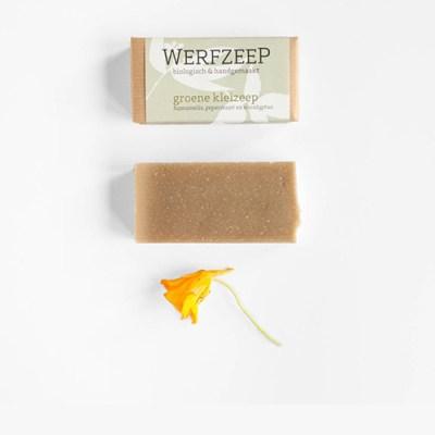 groene klei zeep biologische zeep - natuurlijke zeep - ambachtelijke zeep