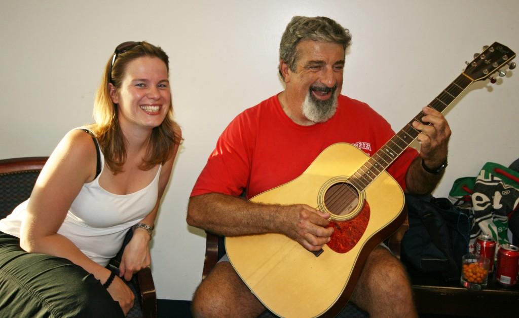 Bob à la guitare