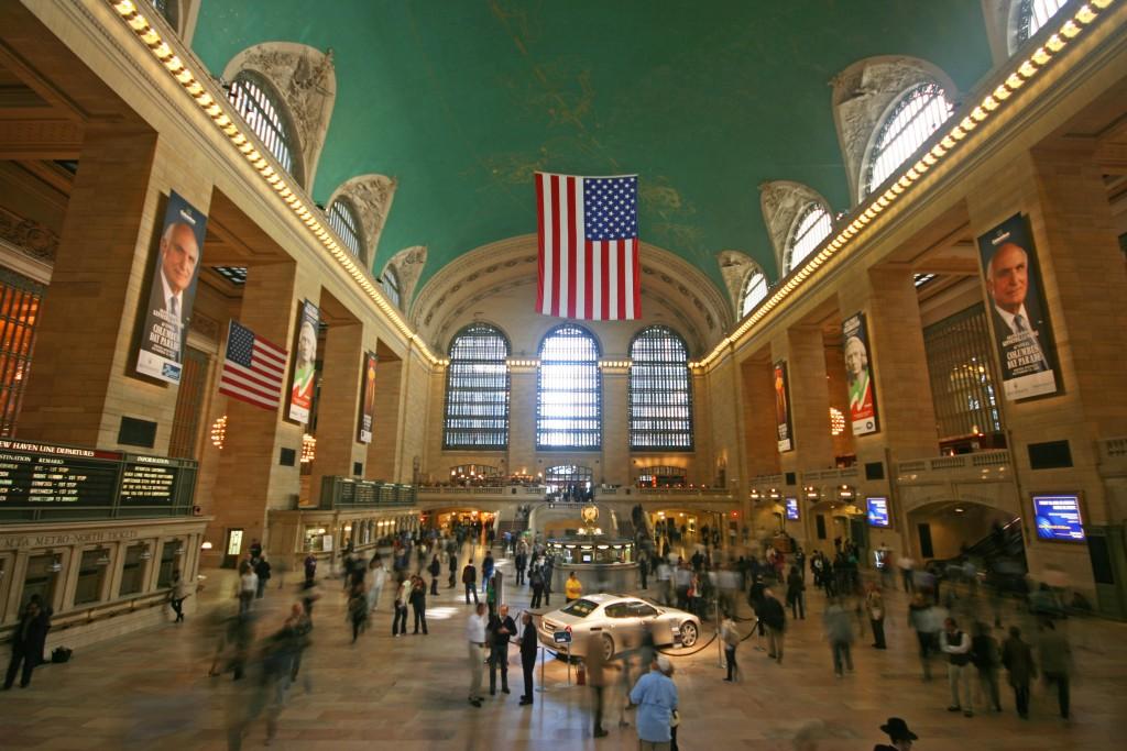 Hall principal de Grand Central... sans doute la gare la plus filmée au monde.