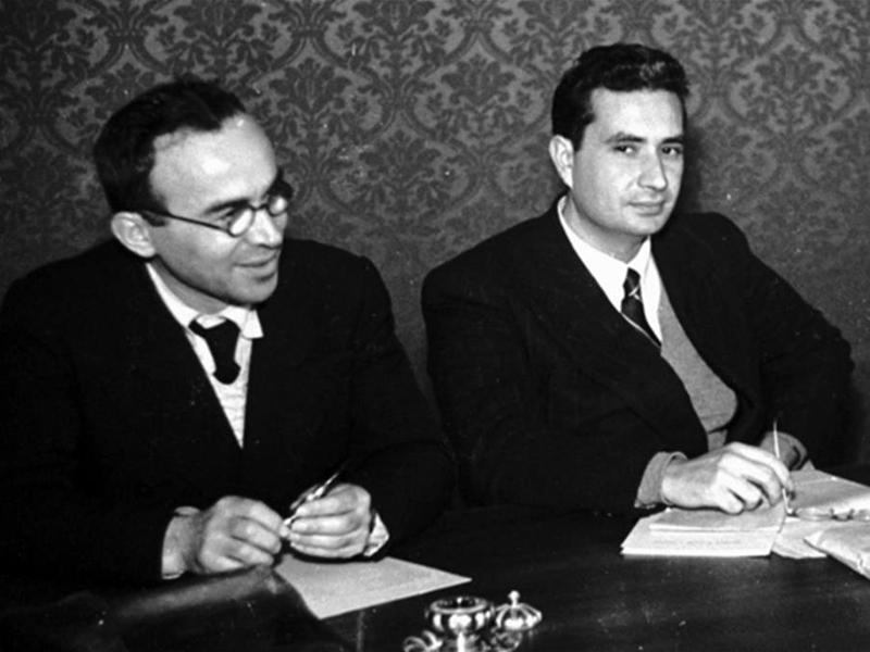 La Pira con Aldo Moro