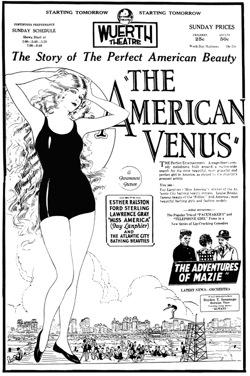 The American Venus advertisement