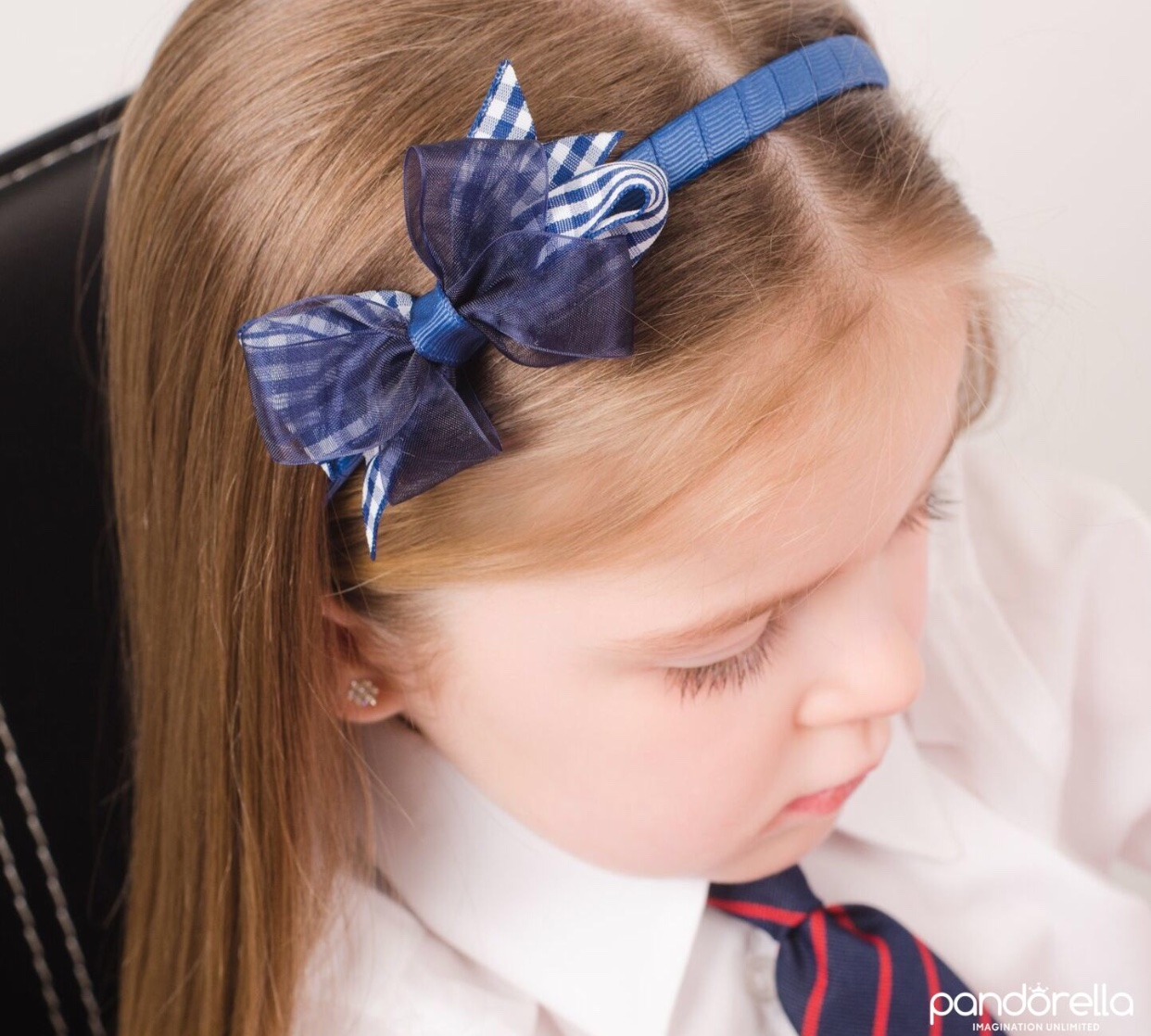 35 GINGHAM Amp ORGANZA BOW 3 COLOURS ALICE BAND
