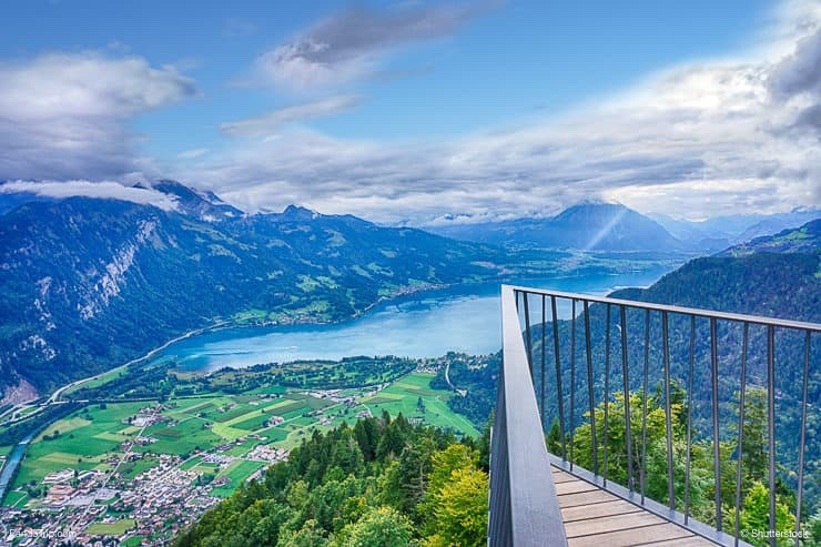Panoramic view of Interlaken from viewpoint of Harder Kulm