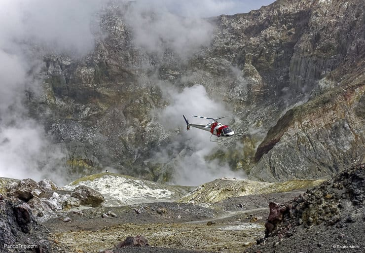 Helicopter tour over Whakaari White Island, Bay of Plenty, New Zealand