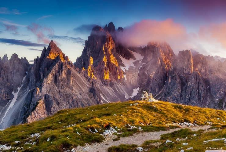 ِحظ، بسبب، ال التعريف، أعلى، Cadini، di، Misurina، إتخذ مكانا، إلى داخل، الحديقة الوطني، Tre، Cime، di، Lavaredo، dolomites، Italy